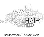 hair text word cloud concept | Shutterstock .eps vector #676549645