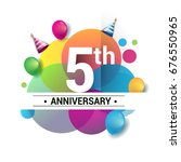 5th years anniversary logo ... | Shutterstock .eps vector #676550965
