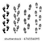 footsteps isolate on white... | Shutterstock .eps vector #676556095
