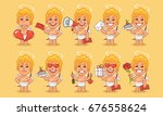 character set cupid in various... | Shutterstock .eps vector #676558624