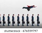 superhero businessman... | Shutterstock . vector #676559797