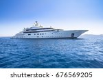 Luxury Yacht In The Sea ...