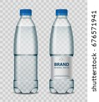 plastic bottle with mineral... | Shutterstock .eps vector #676571941