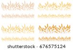 strips waving ears of cereals... | Shutterstock .eps vector #676575124