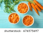 Different Cuts Of Carrot In...