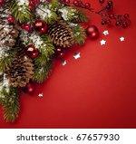 art christmas greeting card | Shutterstock . vector #67657930
