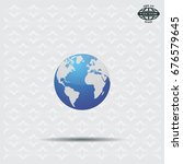 world globe vector illustration. | Shutterstock .eps vector #676579645
