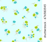Seamless Tiny Floral Pattern