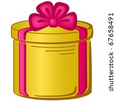 gift box  holiday symbol  round ... | Shutterstock .eps vector #67658491