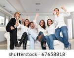 a group of family members... | Shutterstock . vector #67658818
