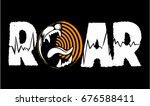roar vector writing  vector logo