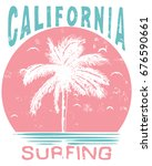 summer graphic and slogan tee | Shutterstock .eps vector #676590661