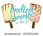 illustration ice cream graphic | Shutterstock .eps vector #676591441