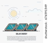solar panels concept. sun and... | Shutterstock .eps vector #676591549