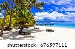 relaxing tropical holidays in... | Shutterstock . vector #676597111