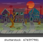 background for games.cartoon... | Shutterstock .eps vector #676597981