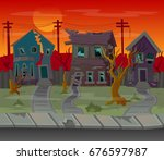 background for games.cartoon... | Shutterstock .eps vector #676597987