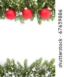 christmas green  framework... | Shutterstock . vector #67659886