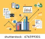 report with investment data ... | Shutterstock .eps vector #676599301