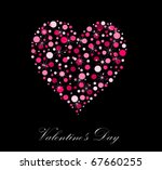 valentine's day card with... | Shutterstock .eps vector #67660255