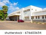 jaffna railway station is a... | Shutterstock . vector #676603654