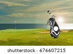 golf equipment  golf bag putter ...   Shutterstock . vector #676607215