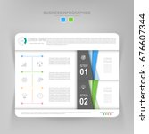 infographic template of two... | Shutterstock .eps vector #676607344