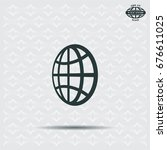 the globe icon. globe symbol.... | Shutterstock .eps vector #676611025