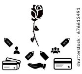 rose icon  vector best flat...