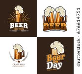 beer vector set | Shutterstock .eps vector #676614751