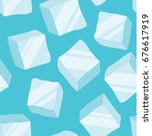 ice cubes on a blue background  ... | Shutterstock .eps vector #676617919