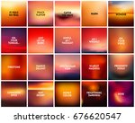 big set of 20 square blurred... | Shutterstock .eps vector #676620547