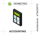 calculator icon isolated on... | Shutterstock .eps vector #676620571