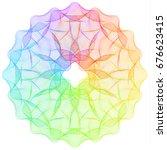 spectrum ornate spirographic 3d ...   Shutterstock .eps vector #676623415