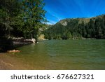 lake in the vosges mountains | Shutterstock . vector #676627321