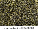 texture of tea scattered on the ... | Shutterstock . vector #676630384
