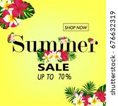 summer sale concept. summer... | Shutterstock .eps vector #676632319
