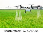 Agriculture Drone Fly To...