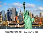 new york city old large sailing ship in hudson - stock photo