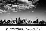 photo new york city cityscape over hudson river - stock photo