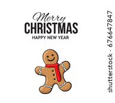 christmas  new year greeting... | Shutterstock .eps vector #676647847