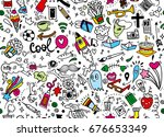 hand drawing doodle element ... | Shutterstock .eps vector #676653349
