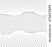 ripped paper transparent... | Shutterstock .eps vector #676655899