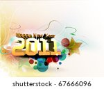 abstract new year 2011 colorful ... | Shutterstock .eps vector #67666096