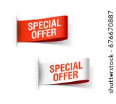 special offer ribbon  red and... | Shutterstock .eps vector #676670887