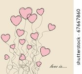 valentines greeting card | Shutterstock .eps vector #67667860