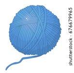 tangle of thread knitting vector | Shutterstock .eps vector #676679965