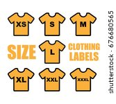 size clothing labels. vector | Shutterstock .eps vector #676680565