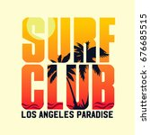 sunset  typographic design  for ... | Shutterstock .eps vector #676685515