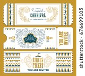 vintage circus banner... | Shutterstock . vector #676699105